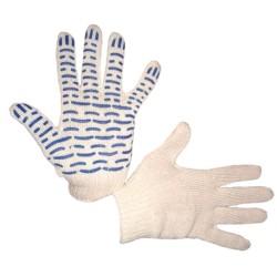 Перчатки трикотажные 5 нитей с ПВХ Волна 7,5 класс