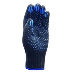 Перчатки трикотажные 4 нити с ПВХ Черные 7,5 класс