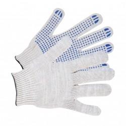 Перчатки трикотажные 3 нити с ПВХ 10 класс