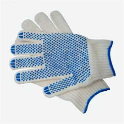 Перчатки трикотажные 6 нитей с  ПВХ 10 класс