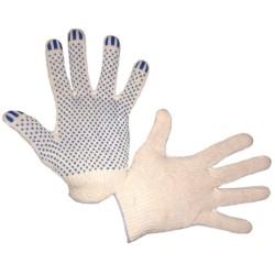 Перчатки трикотажные 4 нити с ПВХ 7,5 класс