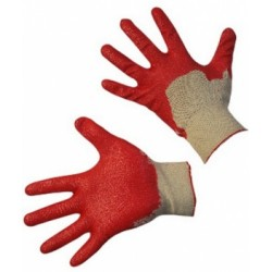 Перчатки латексные одинарный облив РОССИЯ