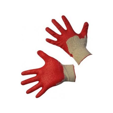 Перчатки латексные одинарный облив
