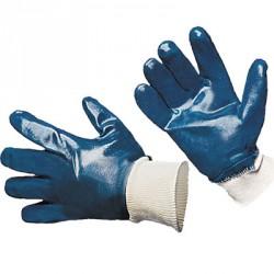 Перчатки с нитриловым покрытием манжет резинка