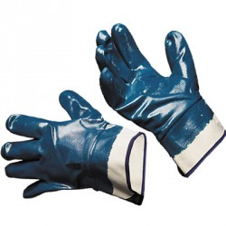 Перчатки с нитриловым покрытием манжет крага