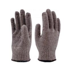 Перчатки серые двойные с ПВХ Волна ЗИМА