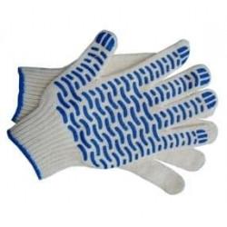 Перчатки трикотажные 5 нитей с ПВХ Волна 10 класс